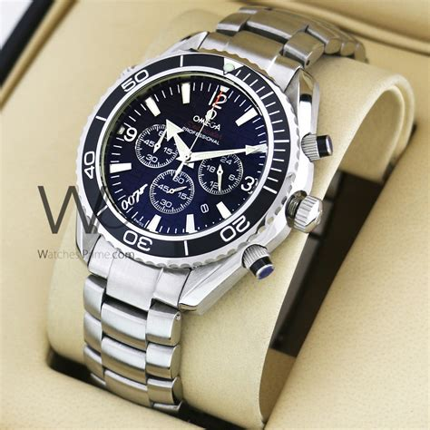 OMEGA 007 CHRONOGRAPH WATCH BLACK WITH STAINLESS STEEL