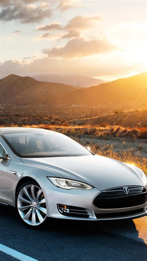 Wallpaper Tesla model x, electric, coupe, luxery, sunset