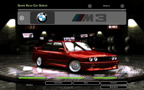 Need For Speed Underground 2 BMW M3 E30   NFSCars