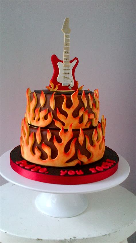 Electric Guitar Cake | Birthday cake for my brother in law