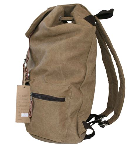 Backpack - Cotton Canvas - Two buckles — Zepter Sports USA