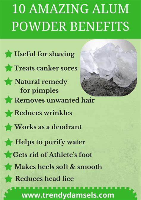 15 Alum powder Uses and benefits for skin, hair and health