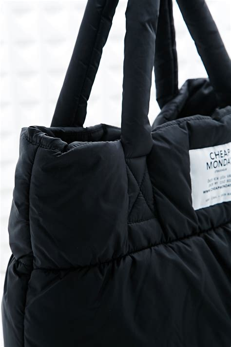Cheap Monday Puffer Tote Bag in Black - Lyst