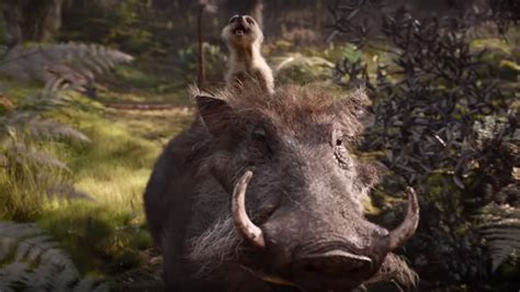 Timon and Pumbaa Are Terrifying in the First 'Lion King