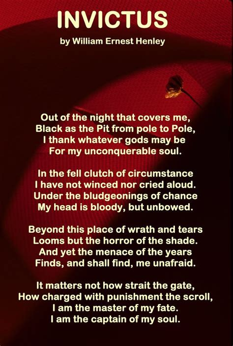 Invictus - I am the master of my fate, I am the captain of